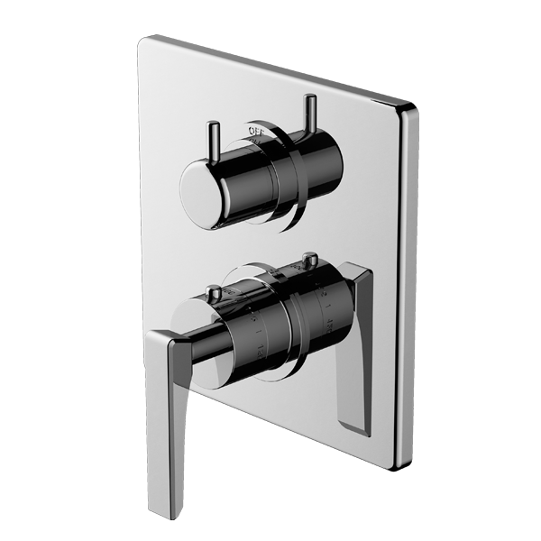 TRIM (Non-Shared Function) – 1/2″ Thermostatic Trim with Volume Control and 3-Way Diverter