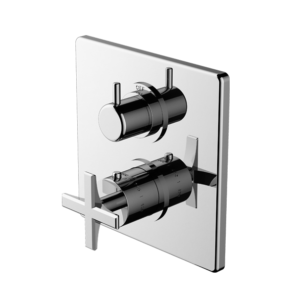 TRIM (Shared Function) – 1/2″ Thermostatic Trim with Volume Control and 2-Way Diverter