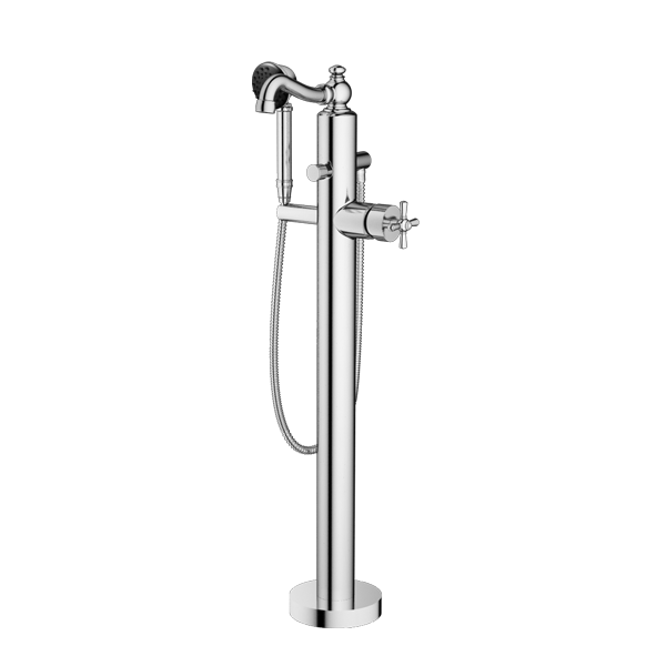 TRIM – Floor Mount Tub Filler with Hand Shower
