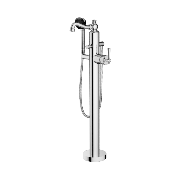 TRIM – Floor Mount Tub Filler with Multifunction Hand Shower