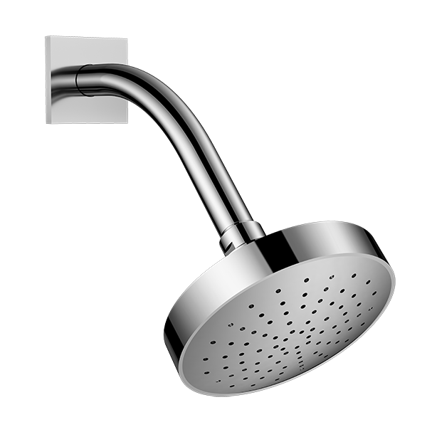Aerated Shower Head with Arm and Flange